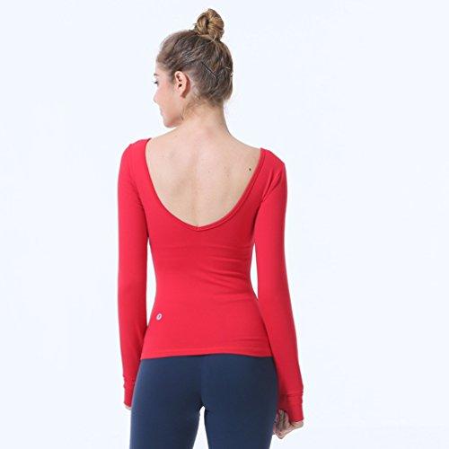 Binhee Femmes Extensible Chemise À Manches Longues avec Poitrine Poitrine Séchage Rapide T-Shirt Sports Fitness