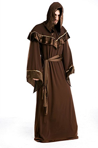 Men's Funny Halloween Cosplay Costume Religious Priest Long Robe-Festival Party Long Clothing Props - Priest Costume Funny
