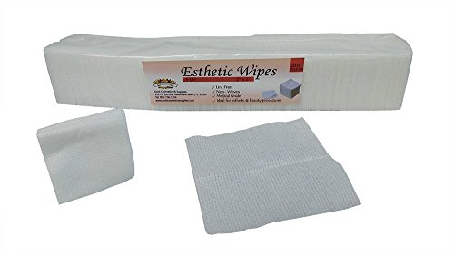 200 Count - DISPOSABLE FACIAL WIPES 4X4 - Esthetic Cotton Cleansing Non-woven Wipe (4-ply) Clean Face Skin Care Treatment Lint-free