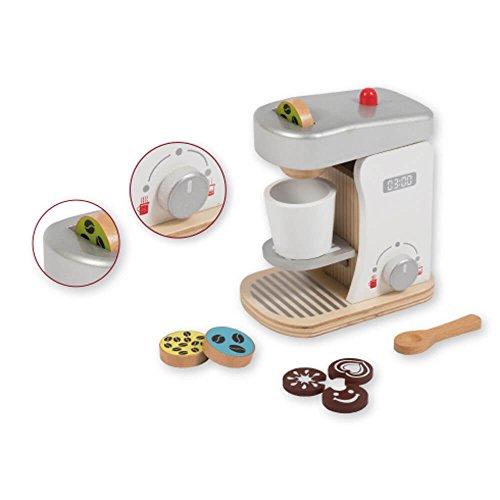 Jouéco - Machine à Café en Bois avec Accessoire, 80058