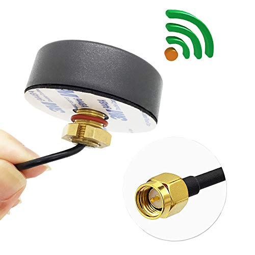Ceiling Mount Omni Directional Antenna - Ultra Low-Profile GSM 2G 3G 4G LTE Antenna SMA Male on 3m RG174 Cable Omni-Directional Outdoor Screw-Mount Antenna