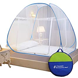 Classic Mosquito Net, Polyester, Foldable for Double Bed – King Size, Green