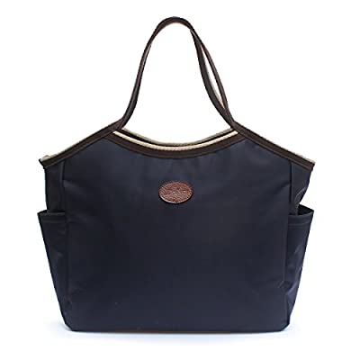 8c85605d0f Waterproof Tote bag Handbag with Zipper DOIOWN Nylon Tote Shoulder Bags  Beach Tote Bags for Women