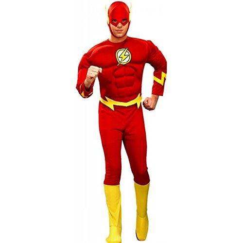 DC Comics Deluxe Muscle Chest The Flash(Adult) Red -