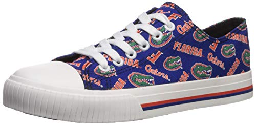 FOCO NCAA Florida Gators Womens Low Top Repeat Print Canvas ShoesLow Top Repeat Print Canvas Shoes, Team Color, L/Womens Size 8 (Best Shoes For Florida)