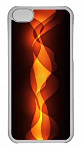 MEIMEICustomized iphone 6 plus 5.5 inch PC Transparent Case - Flame 2 Personalized CoverMEIMEI