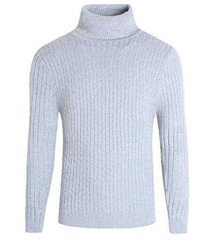 Discount Comfy Mens Knit Casual Solid Warm Thicken High Neck Sweater Outwear hot sale