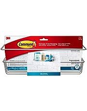 (Shower Caddy, Satin Nickel) - Command Shower Caddy, Satin Nickel, 1-Caddy, 1-Prep Wipe, 4-Large Water-Resistant Strips (BATH31-SN-ES)