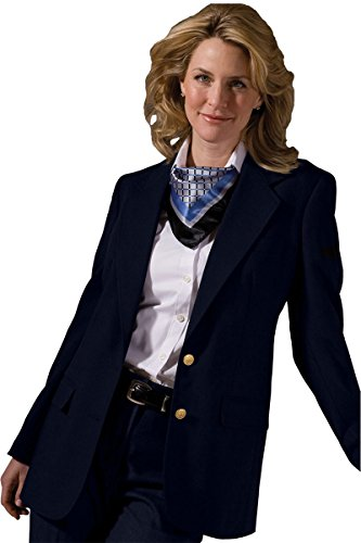 (Ed Garments Women's Welt Breast Pocket Hopsack Blazer, NAVY, 0 R)