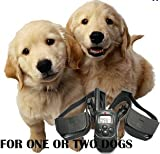 For Two dogs 100LV Remote Control Dog Training Shock and Vibration VIBRATE Rechargeable Collar with LCD Display and Beep, My Pet Supplies