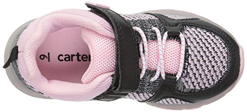 Pictures of Carter's Girls' Tris Ligh-Up Athletic Black/Pink 12 M US Little Kid 2