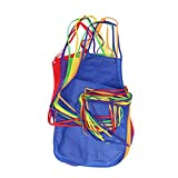 SUPVOX 12pcs 6 Colors Children's Artists Fabric Aprons Painting Apron Kitchen Aprons for Kitchen, Classroom, Crafts and Art Painting Activity