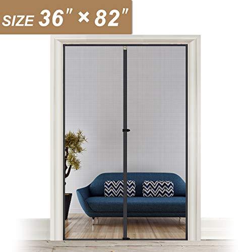Mesh Door Screen with Magnets 36, Fit Doors Size Up to 36