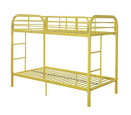 Acme Furniture 02178YL Thomas Bunk Bed, Twin, Yellow