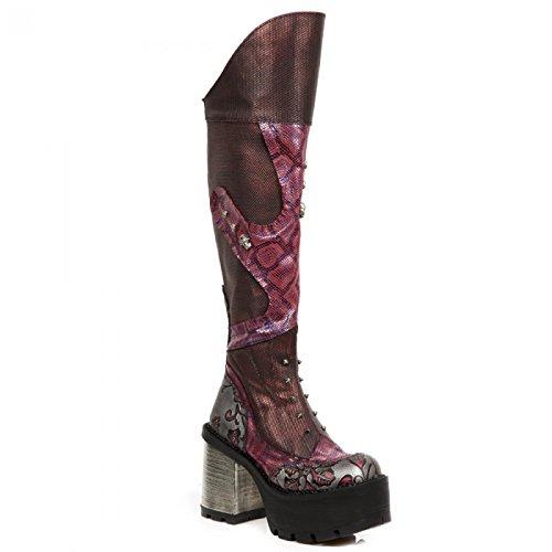 New Rock Handmade M SEVE32 C2 Rot Damen Stiefel