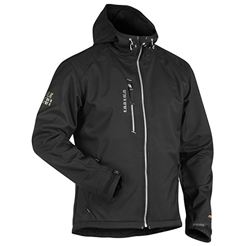 Blåkläder Workwear Softshelljacke 4949 mit Kapuze, S, grau, 1 Stück, 67-49492517-9992-S