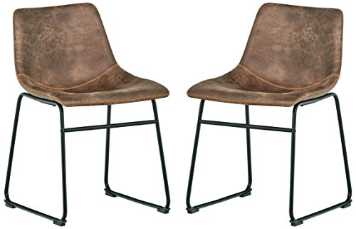 Rivet Mid-Century 2-Pack Microfiber Chairs, 30.5