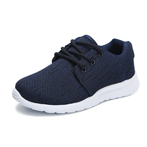 Hawkwell Breathable Lace-up Running Shoes(Little Kid/Big Kid),Navy Mesh,12 M US Little Kid