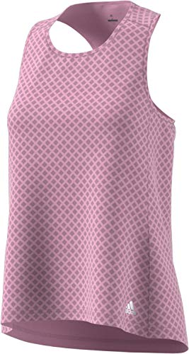 Adidas Womens Response Tank - adidas Women's Response Tank Top, True Pink/Heather, Large
