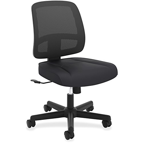 HON ValuTask Task Chair, Mesh Back Computer Chair for Office Desk, Black (HVL205) by HON