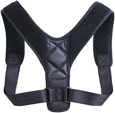 Healifty Korrektur Der Rückenhaltung Verstellbare Leder-Oberschenkelstütze Atmungsaktiver Gürtel Zur Unterstützung Des Schlüsselbeins für Männer Und Frauen