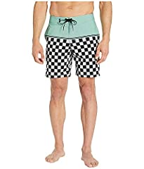 An iconic checkerboard pattern amplifies the surf-ready style of quick-drying board shorts made with four-way stretch to keep up with all your moves.