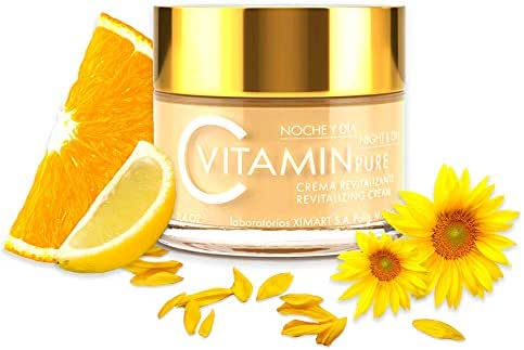 Noche Y Dia Vitamin C Cream - Daily Anti Aging Cream - Anti Wrinkle Moisturizer for Face & Neck - Reduce Appearance of Wrinkles, Fine Lines & Acne - Collagen Booster - SPF 10 - 2.04 oz