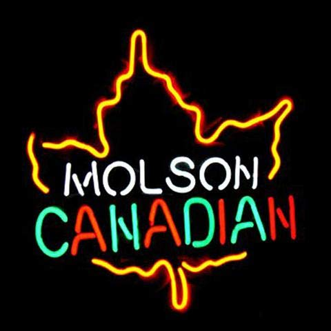 Neon Sign Molson Canadian Beer for Man Cave Room Bedroom Wall Decor, 17