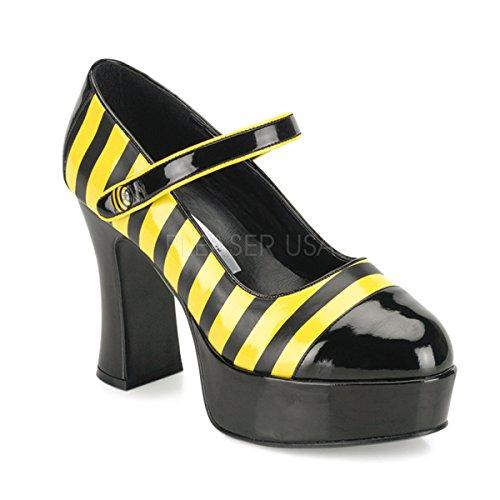 Funtasma by Pleaser Women's Halloween BUZZ-66,Black-Yellow Patent,8 M]()