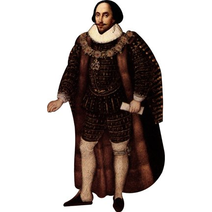 HistoricalCutouts H79024 William Shakespeare Cardboard Cutout Standee