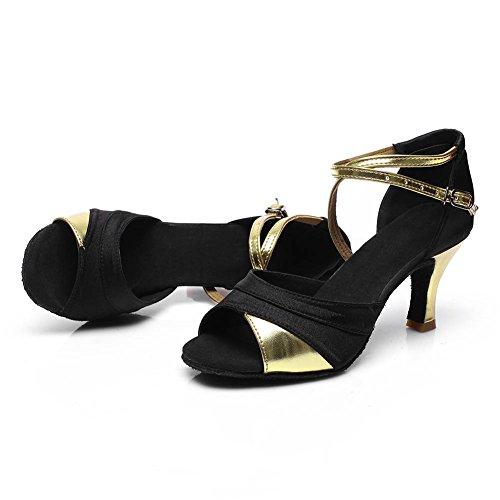 Womens Dance Shoes Latin Ballroom Gold BhNQVJf