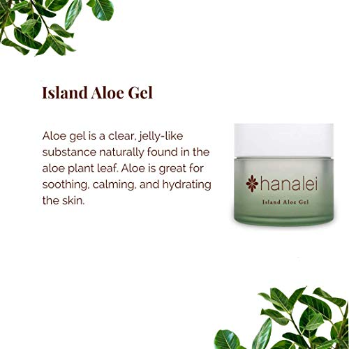 Island Aloe Gel by Hanalei Company, Cooling Moisturizer, Helps Relieve Sunburn (Full Size 100gram)