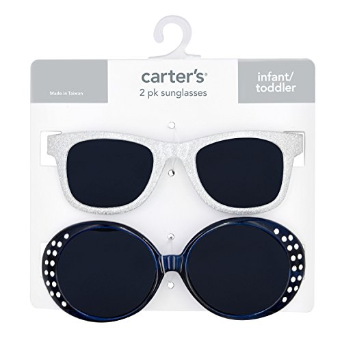 Carter's Baby Girl's 100% Uva-uvb Protected Baby Sunglasses (girl) Accessory, pink/silver glitter/navy, 0-36 - ???????? 0 Sunglasses