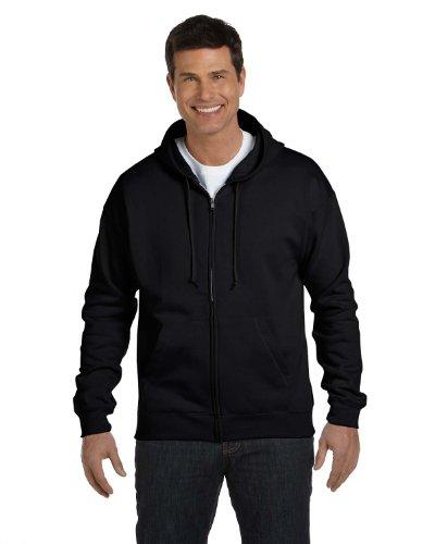 Hanes Adult ComfortBlend EcoSmart Full Zip Hoodie Pullover, Blk, Small Blk Hoodie