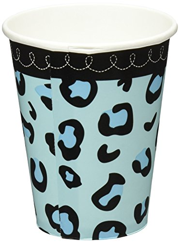 Sweet Safari Boy Baby Shower Party Cups, 18 Pieces, Made from Paper, Blue, 9 oz by Amscan ()