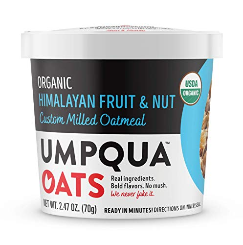 Umpqua Oats Organic Oatmeal Cups, Himalayan Fruit and Nut, 12 Count (PACKAGING MAY VARY)