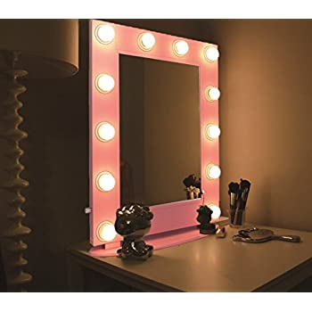 Amazon.com: Hans & Alice Hollywood Mirror Tabletops or Wall Mount Lighted Makeup Mirror Vanity ...