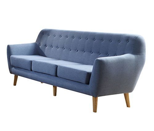 ACME Furniture 52655 Ngai 52655 Sofa, Blue Linen