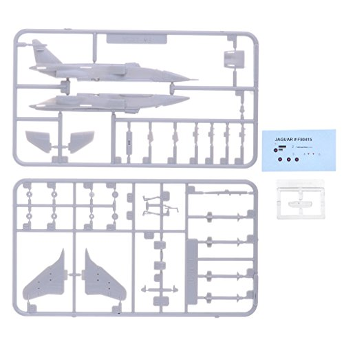 MagiDeal 1/144th Scale DIY Unassemble American SEPECAT Jaguar Airplane Model Toy Gift from Unknown