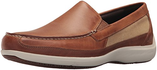 Rockport Men's Aiden Panel Venetian Shoe, Caramel, 10.5 M (Rockport Driving Shoes)
