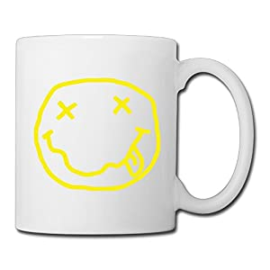 Christina JRICK Nirvana Rock Band Ceramic Coffee Mug Tea Cup White