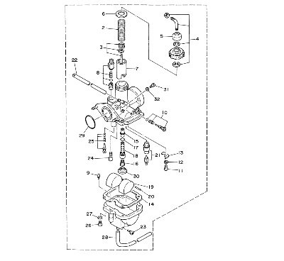 Yamaha 5VJ141011000 Carburetor Assembly