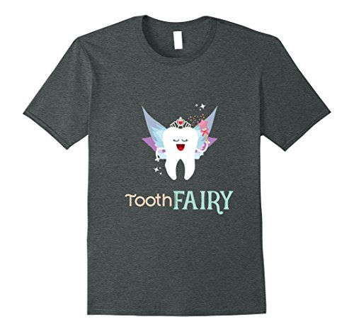 Tooth Fairy Costumes Ideas (Mens Tooth Fairy Princess With Wings Costume Gift T-Shirt XL Dark Heather)