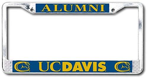 - Strand Art U.C. Davis Aggies Alumni Polished Chrome License Plate Frame-Silver