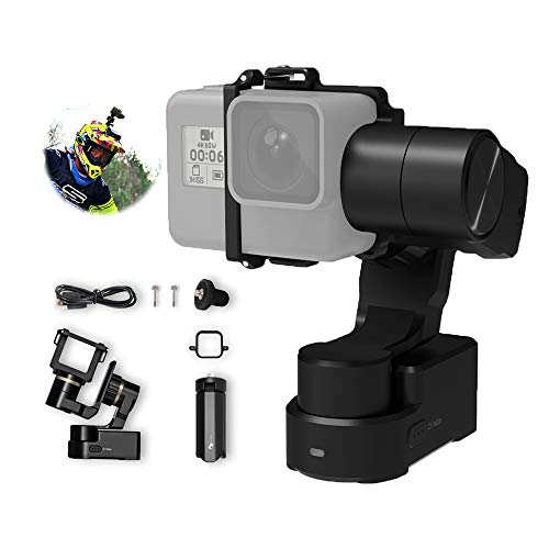 FeiyuTech WG2X 3-Axis Gimbal Stabilizer for GoPro Hero 8(Fixture)/7/6/5/4, DJI Osmo Action, AEE, SJCAM Sporta Action Camera Wearable Stabilizer Gimbal,Official-Authorized