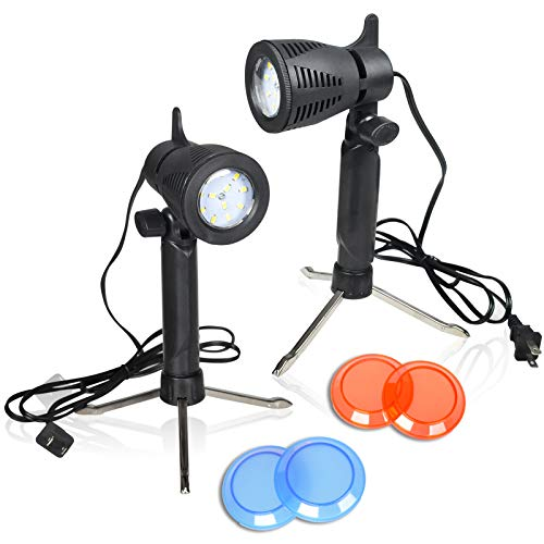 Emart Photography LED Continuous Light Lamp 5500K Portable Camera Photo Lighting for Table Top Studio – 2 Sets