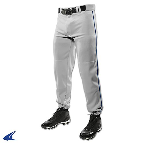 Champro Youth Triple Crown Dugout Baseball Pant with Braid B01I0J63MQ Small|グレー/ネイビー グレー/ネイビー Small