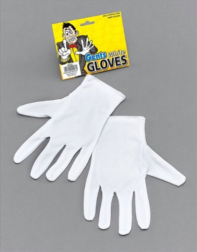 White Adults Magician Gloves