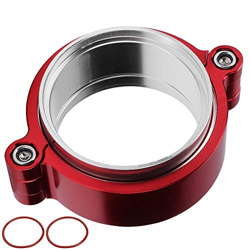 Clamp Flange Exhaust V-band Clamp Flange Assembly Anodized Clamp For 2.5