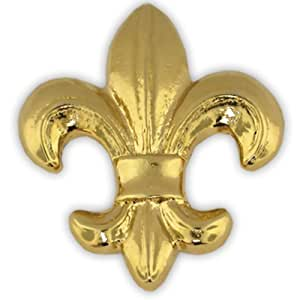 pinmart 39 s gold plated fleur de lis flower of the lily french lapel pin jewelry. Black Bedroom Furniture Sets. Home Design Ideas
